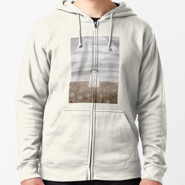 There's a Ghost in The meadow Autumn Zipped Hoodie
