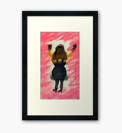 Going out,watercolor Framed Print