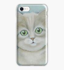 Cute cat portrait. iPhone Case/Skin
