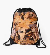 Winter Leaves Camo  Drawstring Bag