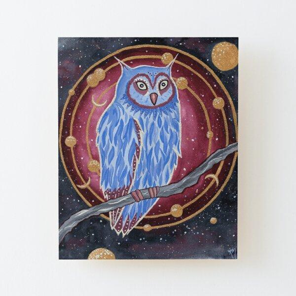 Noctua the Owl Wood Mounted Print
