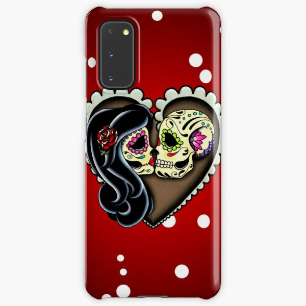 Ashes - Day of the Dead Couple - Sugar Skull Lovers Samsung Galaxy Snap Case