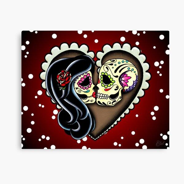 Staub zu Staub. Amor eterno. Ein originales handgezeichnetes Design von Cali Leinwanddruck