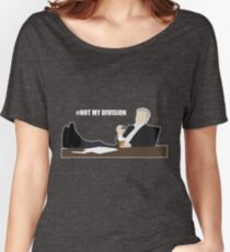 Not My Division - DI Lestrade (white text) Women's Relaxed Fit T-Shirt
