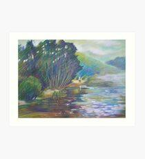 Swimming Clouds -  Winnererremy Bay, Mona Vale, Australia Art Print