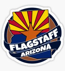 Flagstaff Arizona flag burst Sticker