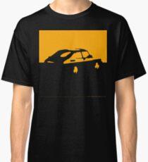 Camiseta clásica Saab 900, 1990 - Amarillo sobre carbón