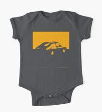 Saab 900, 1990 - Yellow on charcoal Baby Body Kurzarm