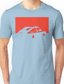 Saab 900, 1990 - Red on charcoal Unisex T-Shirt