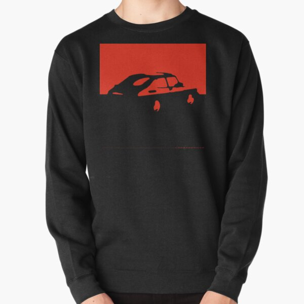 Saab 900, 1990 - Red on charcoal Pullover Sweatshirt