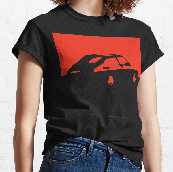 Saab 900, 1990 - Rouge sur charbon T-shirt classique