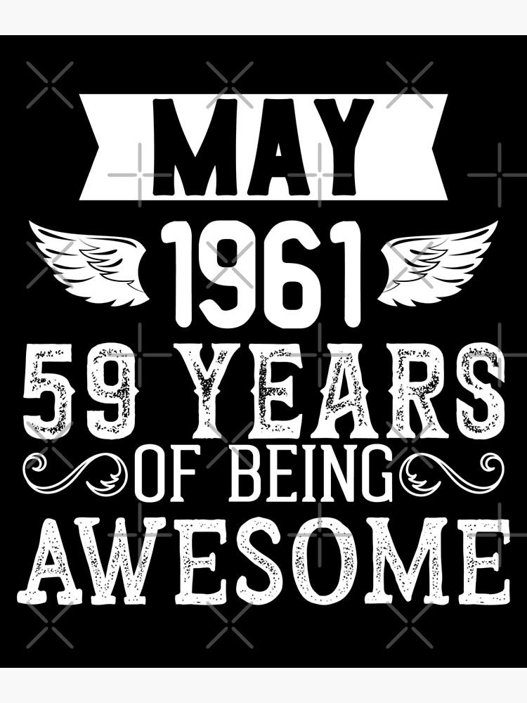59th Birthday Gifts Presents Year 1961 Unisex Ringer T-Shirt Wreaking Havoc