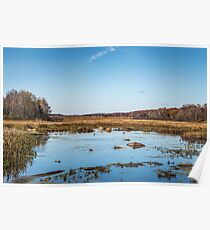 Fall At The Mill Pond Poster