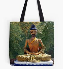 இڿڰۣ 韩国人物图片素材_韩国 STATUE OF MONK MEDITATION THAILAND  இڿڰۣ  Tote Bag