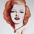 Marilyn - the lipstick girl by Midori Furze