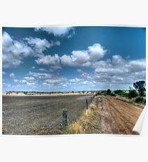 Wheatbelt landscape Poster