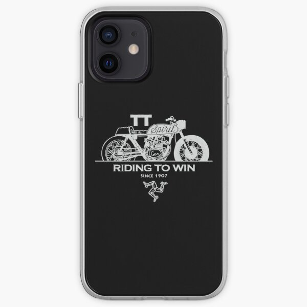Isle Of Man Manx TT Racing Spirit Of The Racers Tourist Trophy Biker Races Graphic iPhone Soft Case