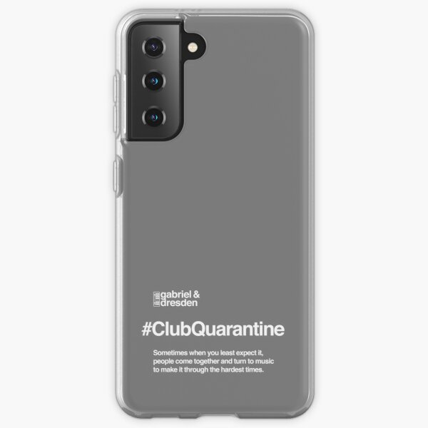 Gabriel & Dresden #ClubQuarantine White Logo Samsung Galaxy Soft Case