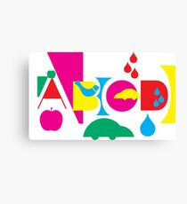 Graphic ABC Canvas Print