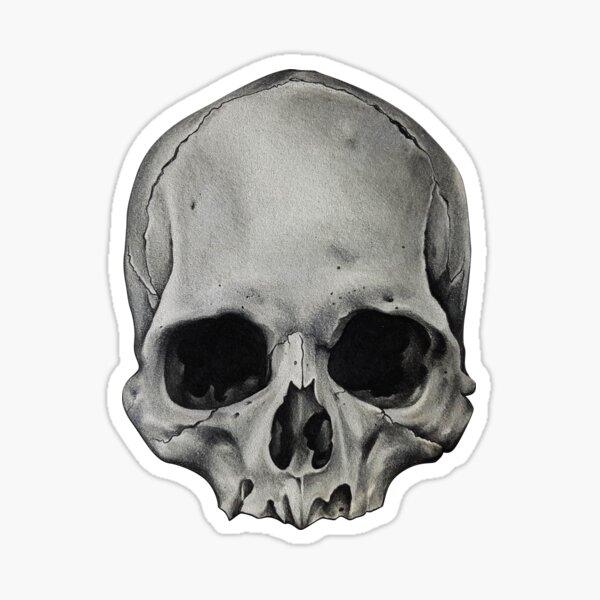 Just a Skull Sticker