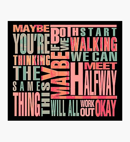 Maybe You're Thinking The Same Thing Photographic Print