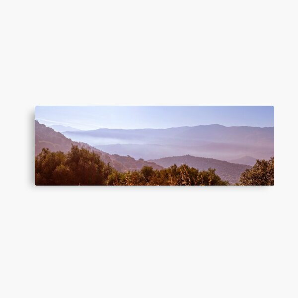 Panorama of the mountains in Corsica Canvas Print