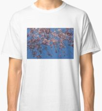 Pretty in Pink - a Flowering Cherry Tree and Blue Spring Sky Classic T-Shirt