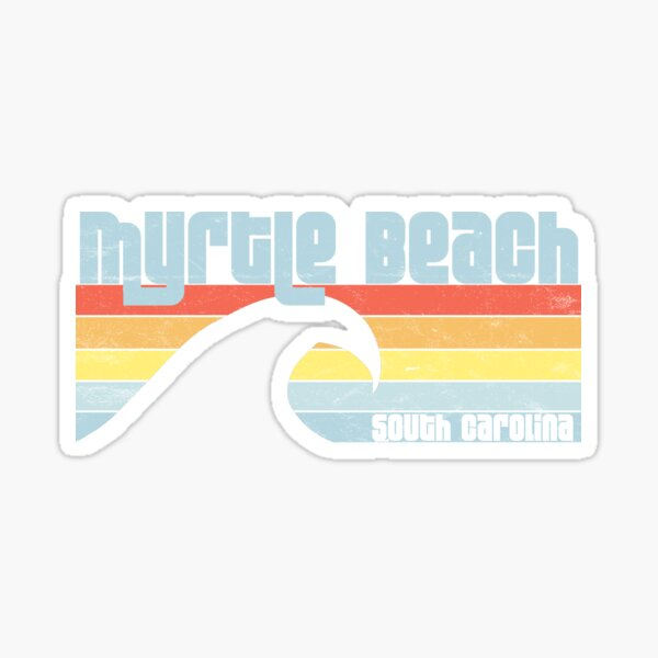 Myrtle Beach - South Carolina Atlantic Ocean SC Wave Sticker