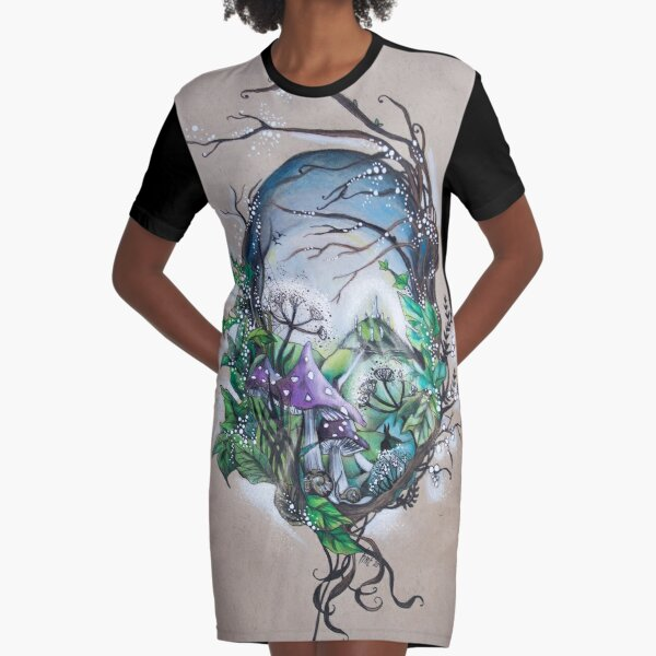 The Enchanted Land Graphic T-Shirt Dress