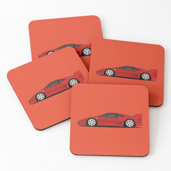 Ferrari F40 Coasters (Set of 4)