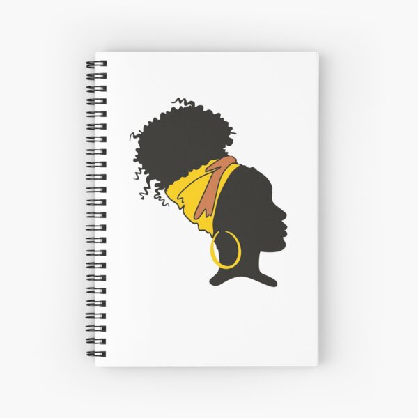 Natural Curly Hair, Curly Hair Natural, Kinky Curly Hair Spiral Notebook