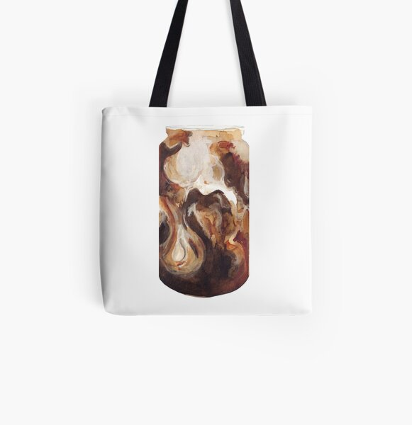 Latte All Over Print Tote Bag