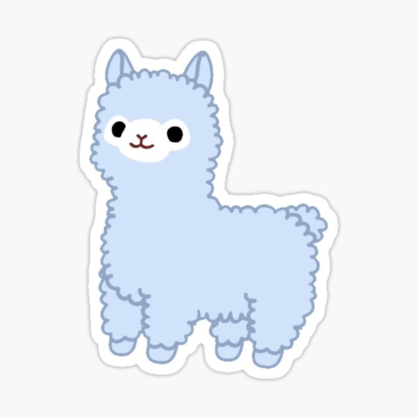 Blue Alpaca Sticker