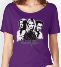 A Trio of Scoobies (Willow, Buffy & Xander) Women's Relaxed Fit T-Shirt