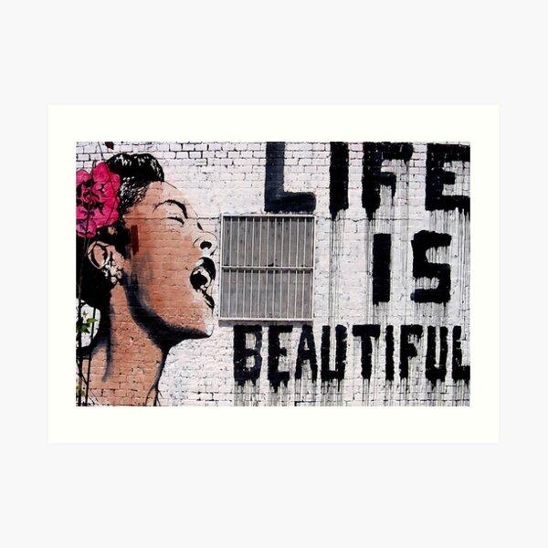 Banksy Beautiful Graffiti Art Print