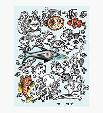 Cartoon Fishies  Photographic Print