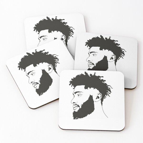 Curly Hair, Natural Curly Hair, Curly Hair Natural Coasters (Set of 4)