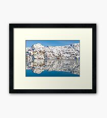 Reflections of the Battery Framed Print