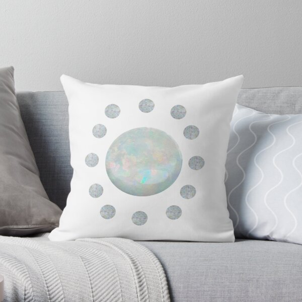 Opal October Birthstone | Rainbow Confidence Throw Pillow