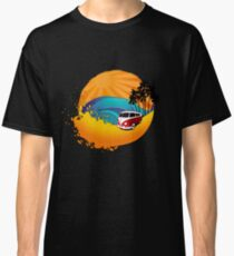 Camper on sunset beach Classic T-Shirt
