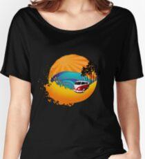 Camper on sunset beach Women's Relaxed Fit T-Shirt