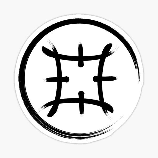Symbol der Samurai Sticker