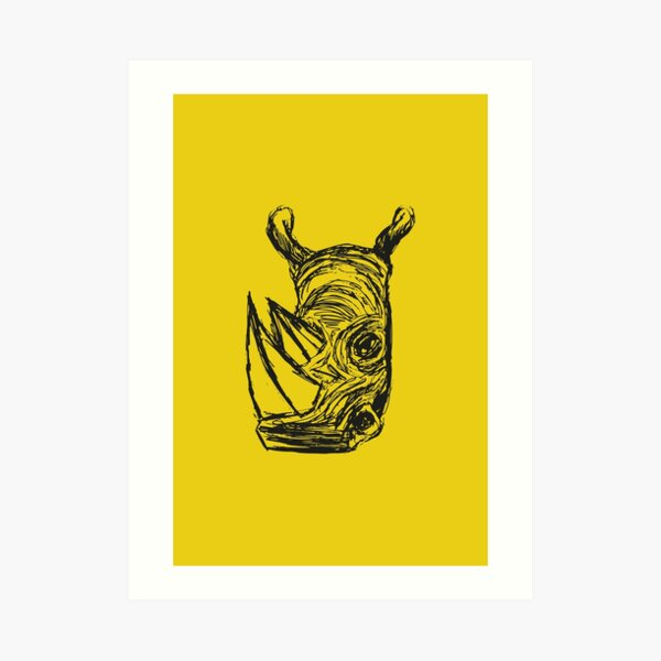 Rhinocero Art Print