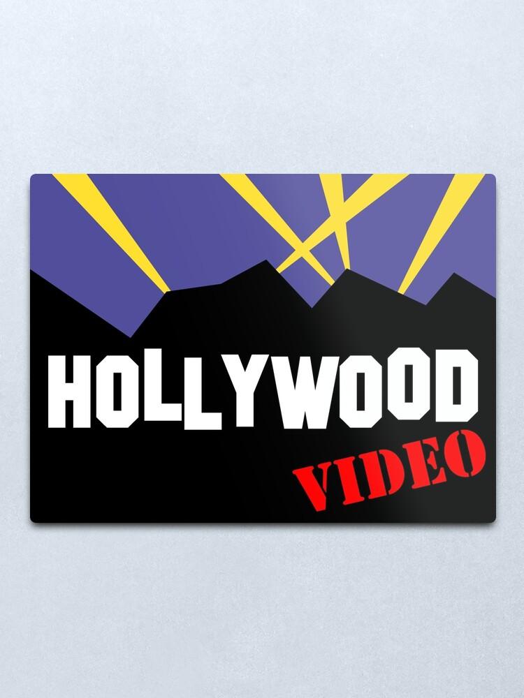 Alternate view of Hollywood Video Metal Print