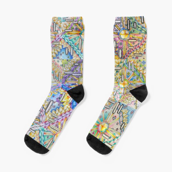 A Community Mosaic of Inspirational Words and Art Socks