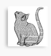 Bücher und Katzen und Bücher und Katzen Metalldruck