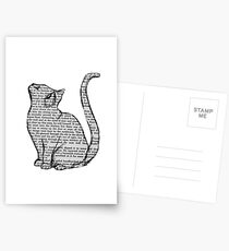 books and cats and books and cats Postcards