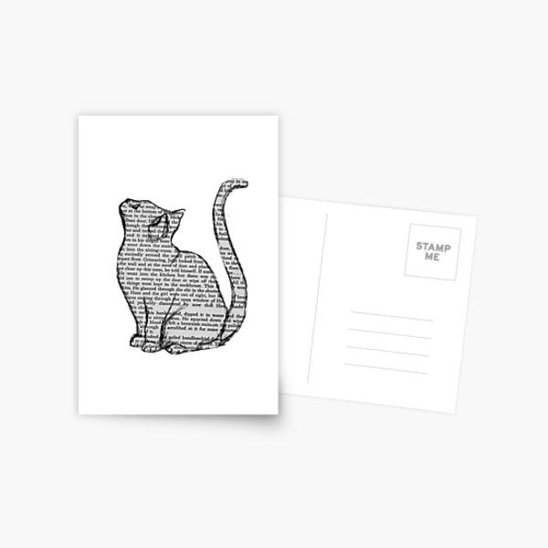 books and cats and books and cats Postcard