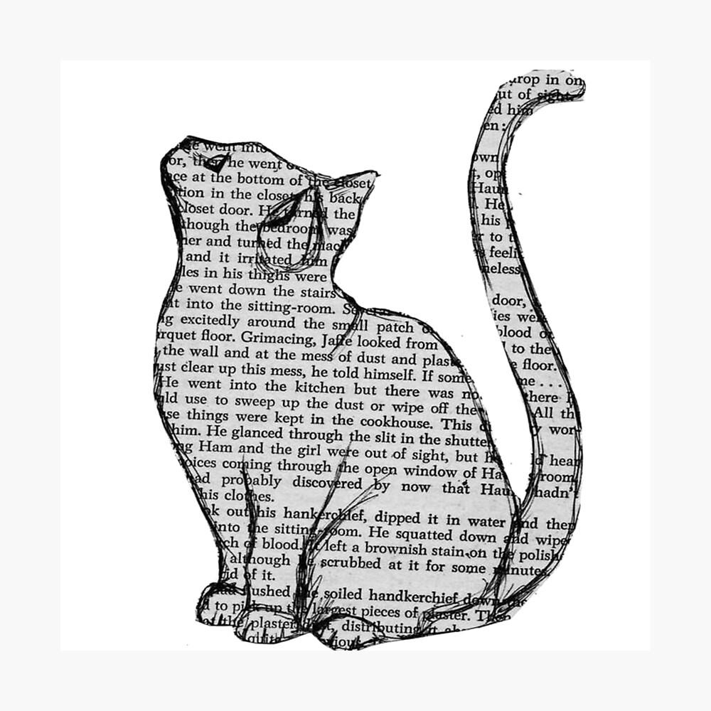 Bücher und Katzen und Bücher und Katzen Fotodruck