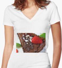Tarte au Chocolat  Women's Fitted V-Neck T-Shirt